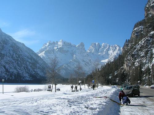 Cortina d'Ampezzo: lo sci tra le Dolomiti