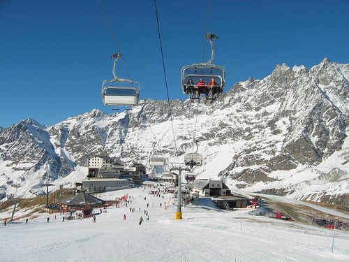 Cervinia: lo sci ad alta quota